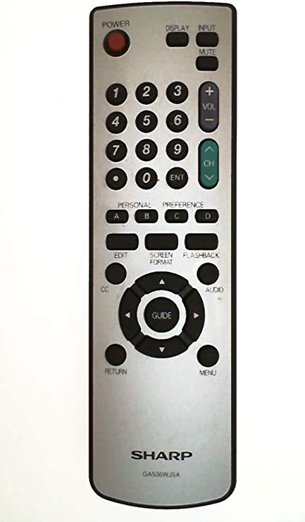 Replacement Remote Control for Sharp XLHP700 XLHP500 RRMCG0347AWSA
