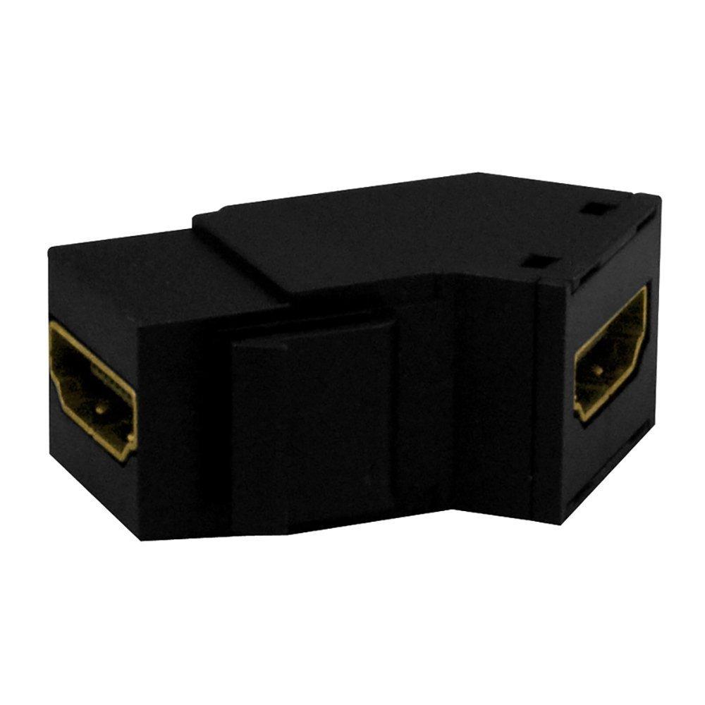 OnQ / Legrand WP1234BK High Definition Multimedia Interface Keystone Insert, Black (2 Pack)