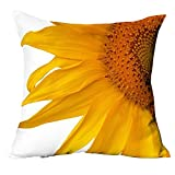 Lightclub 3D Sunflower Pattern Cotton Linen Throw Pillow Car Sofa Cushion Cover (3#)