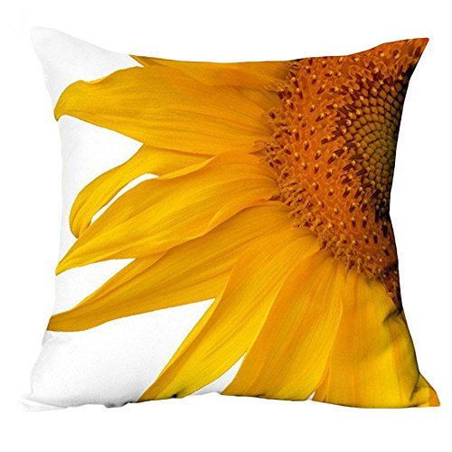 Starlite Cover (Starlit 3D Sunflower Pattern Cotton Linen Throw Pillow Car Sofa Cushion Cover)