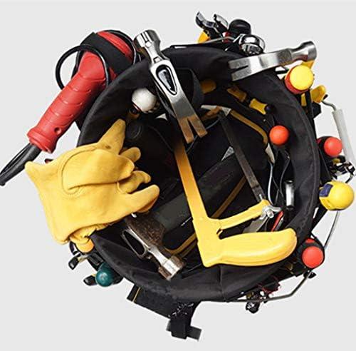 Tool Bag Electrician Multi-Function Tool Belt Bag,Oxford Cloth Hardware Repair Kit Tool Bucket Organizer 30x28cm
