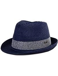 e5b67d138a8 Packable Straw Fedora Panama Sun Summer Beach Hat Cuban Trilby Men Women  55-61cm