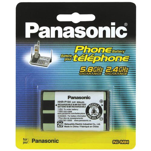 Panasonic Cordless Telephone Battery (HHR-P104A) by Panasonic