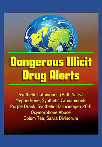 Dangerous Illicit Drug Alerts  Synthetic Cathinones  Bath Salts   Mephedrone  Synthetic Cannabinoids  Purple Drank  Synthetic Hallucinogen 2C E  Oxymorphone Abuse  Opium Tea  Salvia Divinorum