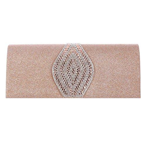 Bags Apricot Magnet Damara Evening Womens Glitter Long Snap Clutch tq6x08Z6w