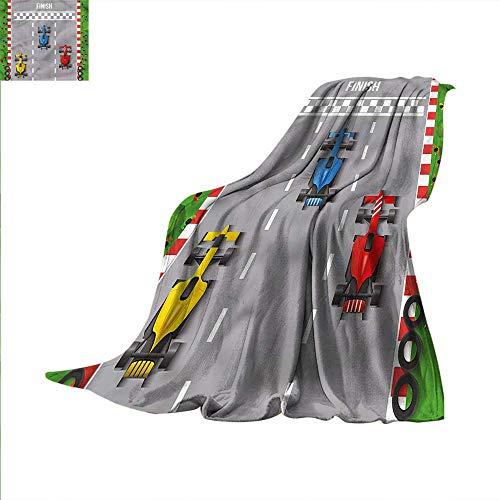 Boys Room Throw Blanket Car Race Formula One Velvet Plush Throw Blanket 60