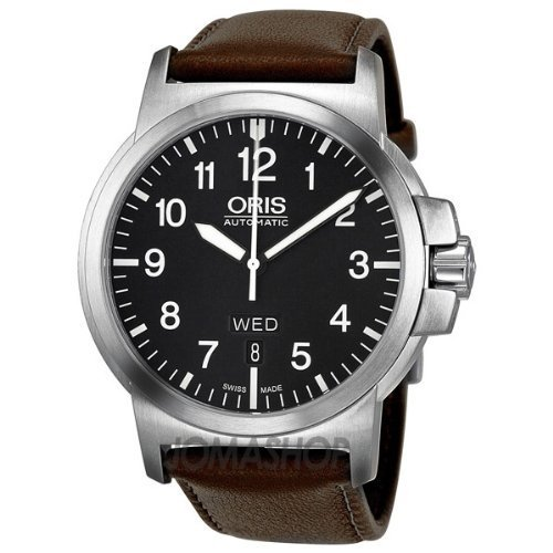 Oris BC 3 Black Dial Brown Leather Mens Watch 735-7641-4164LS, Watch Central