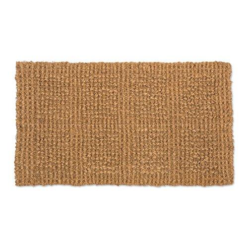J&M Home Fashions Natural Coir Coco Fiber Indoor/Outdoor Plain Woven Doormat, 14x24, Heavy Duty Entry Way Shoes Scraper Patio Rug Dirt Debris Mud Trapper -