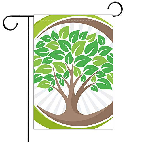 BEICICI Custom Personalized Garden Flag Outdoor Flag Tree icon icon with The Meaning of Growing Developing or Managing The Green Environment Best for Home Outdoor Decor and Party Yard