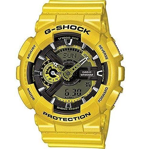G-Shock - Reloj de hombre ga110nm-9 a reloj metálico amarillo: Amazon.es: Relojes