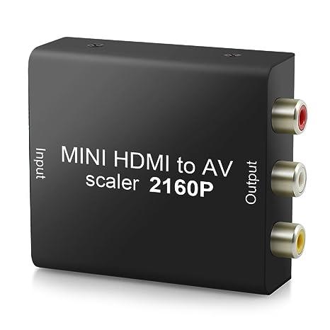 Neoteck 4K 2016P HDMI a AV Convertidor HDMI a 3 RCA Compueto AV CVBS Video y ...