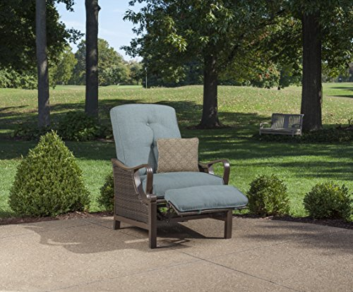 (Hanover Outdoor Ventura Outdoor Luxury Recliner, Ocean Blue)