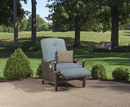 Blue Recliner Cushion - Hanover Outdoor Ventura Outdoor Luxury Recliner, Ocean Blue