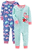 #9: Carter's Baby Girls' 2-Pack Cotton Footless Pajamas