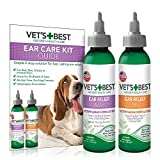 Vet's Best Dog Ear Cleaner Kit | Fast Relief Dog Ear Wash Plus Lasting Ear Dry Protection | Alcohol and Hydrocortisone Free | Vet Formulated