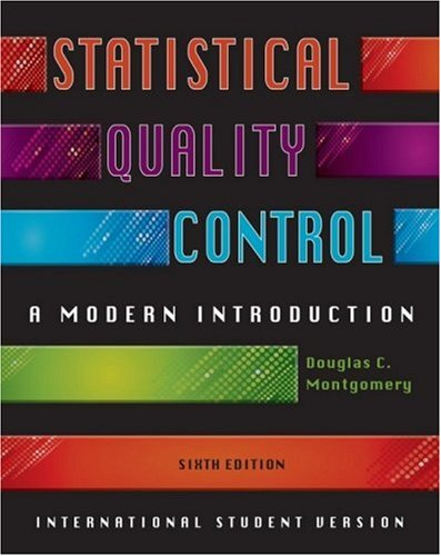 Statistical Quality Control, International Student Version: A Modern Introduction PDF