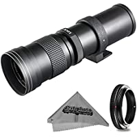 Super 420-800mm f/8.3-16 HD Telephoto Zoom Lens for Canon EOS 70D, 60D, 60Da, 50D, 40D, 30D, 1Ds, Mark III II, 7D, 6D, 5D, 5DS, Rebel T6s, T6i, T5i, T5, T4i, T3i, T3, T2i, SL1 Digital SLR Cameras