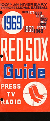 1969 Boston Red Sox Press media guide hole punch