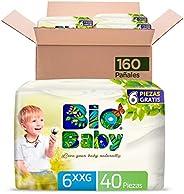 Bio Baby Pañal Bebé Bio Baby Talla 6 Xl-grande 160 Pañales, color, 160 count, pack of/paquete de
