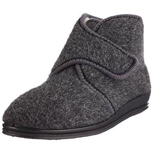 Rohde Marc 2613 - Zapatillas de casa de Tela para Hombre, Color Gris, Talla 45