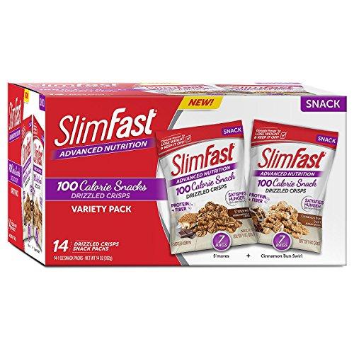 SlimFast Advanced Drizzled Crisps - Variety (14 pk.)
