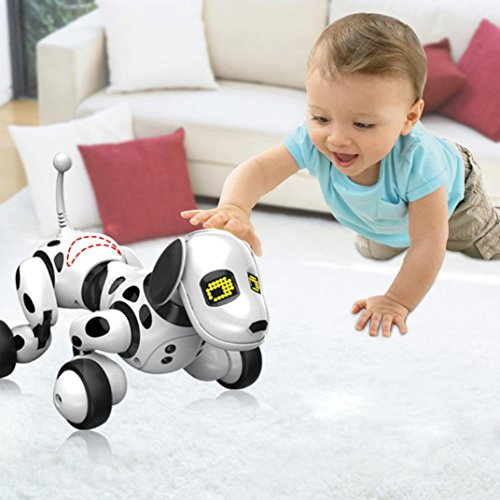 Nice Nacome Clever Sensing Robotic Canine Toy,Good Sing Dance Strolling Digital RC Canine -Youngsters Brithday Reward (White)  Opinions