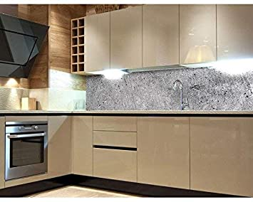 Küchenrückwand Folie selbstklebend BETON 180 x 60 cm | Klebefolie ...