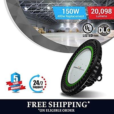 150 Watt LED High Bay UFO Lights -20,000 Lumens- Ultra Efficient 130 Lumens to Watts - Sleek design and more efficient -