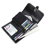 Simple Wallet Women Elegant Lady Girl Buckle Design Minimalist Leather Classic Trifold Short Purse