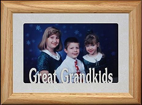 Amazon.com - 5x7 GREAT GRANDKIDS ~ Landscape Picture Frame with ...