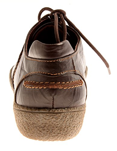 Intérieures Chaussures Amovibles Chaussures Theresia Cuir Lacets à en 66740 Femme Mokka Semelles M qFFwzx54