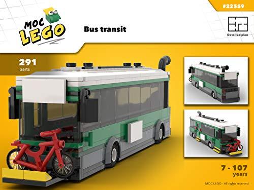 Bus Transit (Instruction Only): Moc LEGO por Bryan Paquette