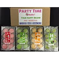 Japanese Mochi Fruits Daifuku (Rice Cake) Strawberry, Melon, Green Tea, Orange Flavors. (4 Flavors M