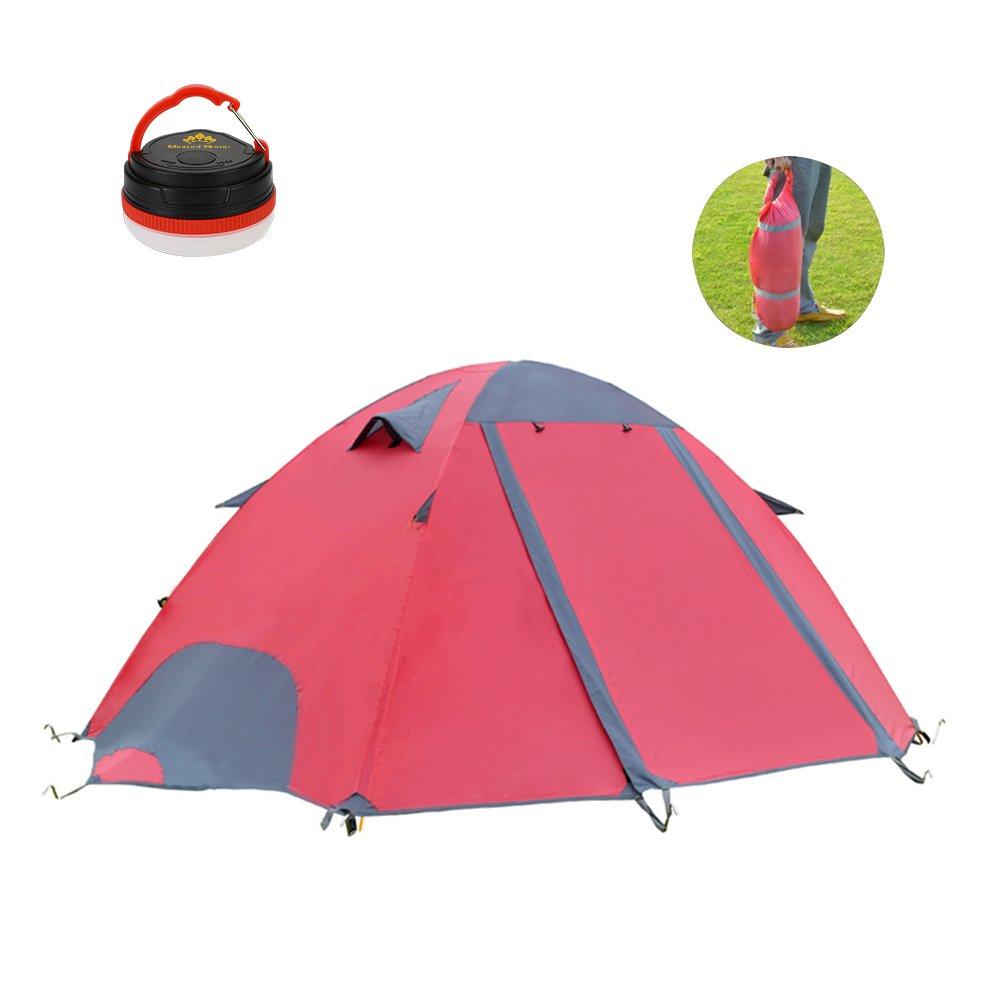 Micrael Home Tienda de campaña 2 personas Sun Shelter con ventanas de malla Dos puertas impermeables tienda de antimosquitos Ideal para la familia Excursiones con mochila al aire libre Picnic Playa Pesca Viajar