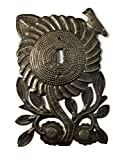 Electrical Light Cover, Sunflower with Bird Switch Plate, Handmade in Haiti