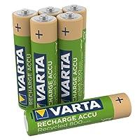 Varta VARTA Piles Rechargeables Accus Recycle AAA 800 mAh Pré-chargée Blister de 6