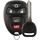 Discount Keyless Replacement Key Fob Car Remote and Uncut Transponder Key Compatible with 15913415, 25839476, ID 46