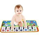 V Convey Improved Volume Baby Piano Mat for Toddlers Keyboard Toys Floor Piano Animal Interactive Music Mat Toys (28.7'' X 11.4'')