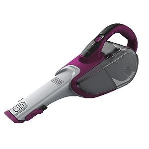 BLACK+DECKER SMARTECH dustbuster Handheld Vacuum, Cordless, Scented Filter, Eggplant Purple (HHVJ320BMFS27)