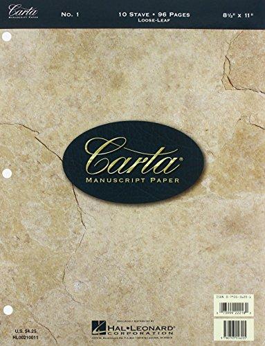 Carta Manuscript Paper No. 1 - (Carta Score Paper)