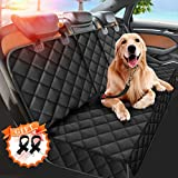 Dog Car Seat Cover, Seat Cover Protector for Pets with 2 Dog Seat Belts Waterproof Pet Seat Cover Non-Slip Bench Seat Covers Armrest for Cars Trucks SUVs