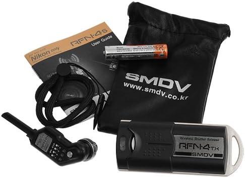 inal/ámbrico transmisor y Receptor para c/ámaras Nikon Fotodiox SMDV RFN-4s Juego de Disparador Remoto