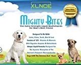 Mighty Bites Dog Vitamins: Pour the liquid supplement with glucosamine over dog food for pet joint care. The best multivitamin for senior dog hip & eye support. Digestive enzyme treatment. Up to 4/mo