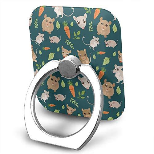 (Cartoon Rat Carrot Phone Ring Stand Holder Cellphone Kickstand Finger Grip 360¡ã Rotation 180¡ã)