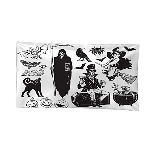 Nicely Tapestries for Bedroom Big Set of Halloween Objects Urban Outfitters Tapestries 84W x 70L Inch