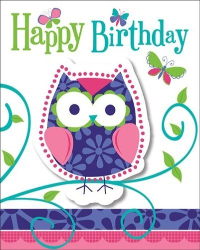Creative Converting Owl Pal Party Invitations (24 Count) by Creative Converting