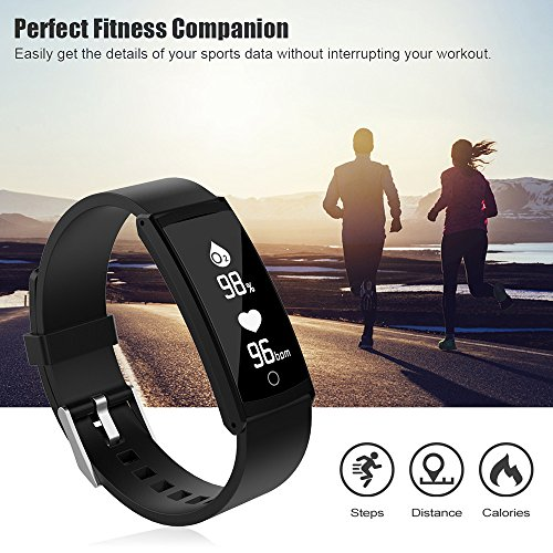 Glumes Bluetooth Smart Watch with heart Blood Pressure Test Heart Rate Monitor Touchscreen Wrist Watch Unlocked Waterproof Smart Watch for Android Samsung IOS Iphone Plus Men Women (White) by Glumes (Image #4)