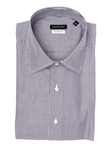 Used, Valentino Men Slim Fit Cotton Dress Shirt Pinstripe for sale  Delivered anywhere in USA