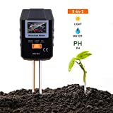 TACKLIFE Soil Test Kit, 3-in-1 Soil Moisture Meter for Moisture, Light and PH, Ideal for Garden, Plant, Farm, Lawn, Indoor & Outdoor (No Battery Needed) - MST01