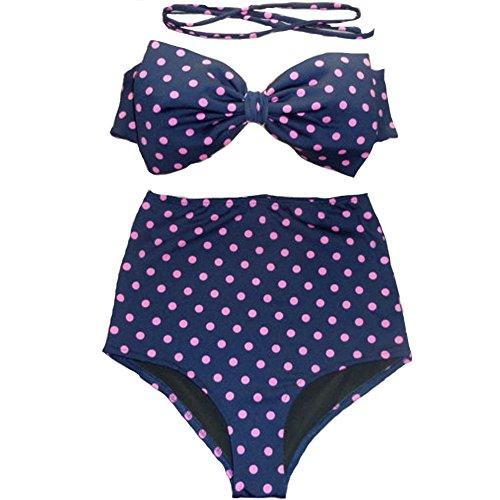 FY Mujeres De Talle Alto Trajes De Baño Elegante Bikini Set De Baño Impreso Trajes De Baño Ropa De Playa Punto